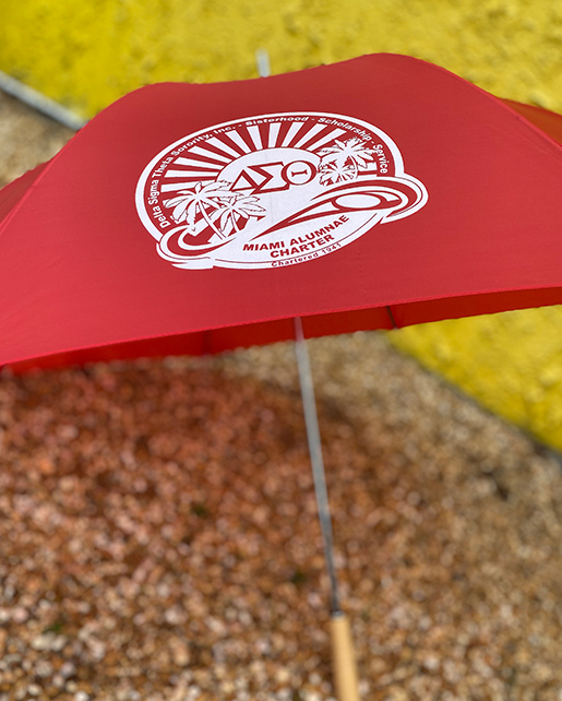 Miami alumnae center umbrella